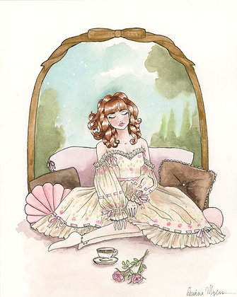"""afternoon tea"" Original Painting - 8""x10"""
