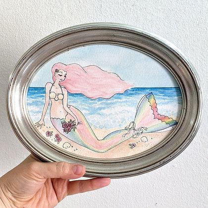 """""""coney island dream"""" Original Framed Painting - 6""""x8"""""""