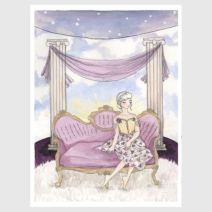 "Art print: ""Kitsch Hotel: Lavender Heaven Room"" 8""x10"""