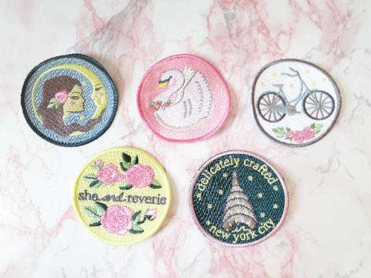 she and reverie sew-on merit badge set