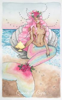 pastel prism tarot: queen of cups