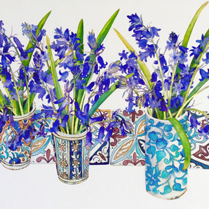 Bluebells and Morroccan Tiles