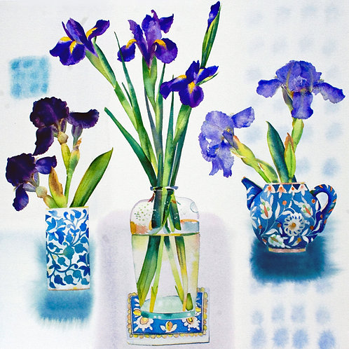Three Irises - limited edition giclee print