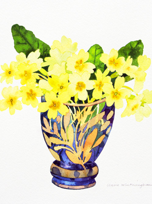 Primroses - limited edition giclee print