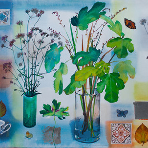 Verbena, Figleaves and Tiles