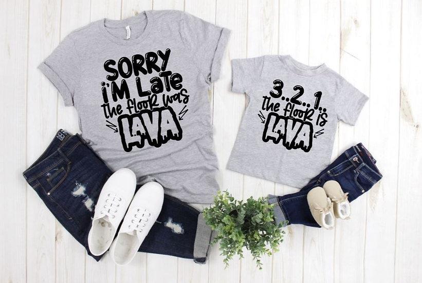 Lava Floor Matching T Shirts