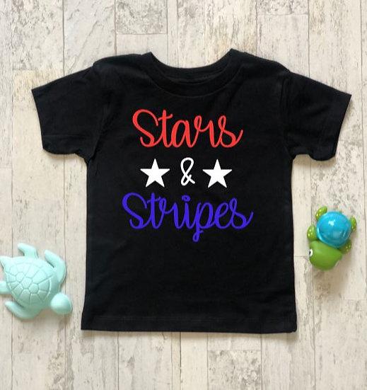 Stars & Stripes Onsie & Childs T-Shirt