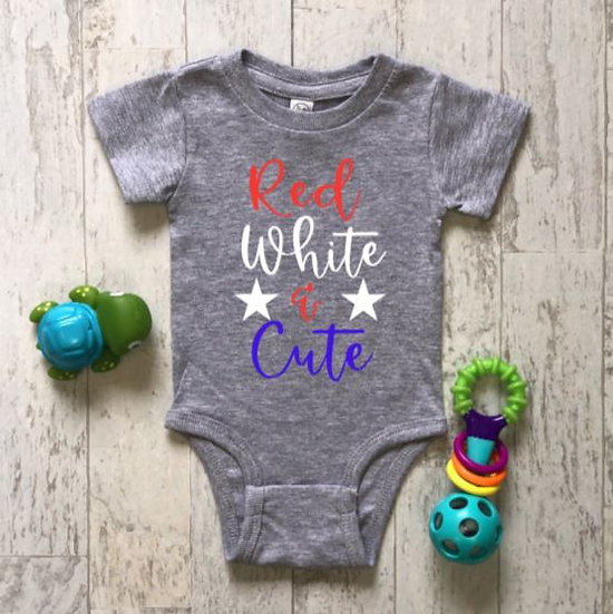 Red White & Cute Onsie & Childs T-Shirt