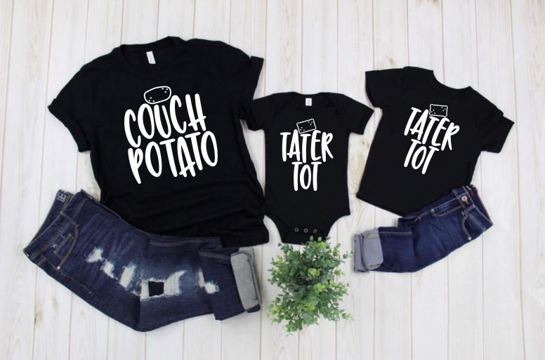 Couch Potato Tater Tot Mom & Me Matching