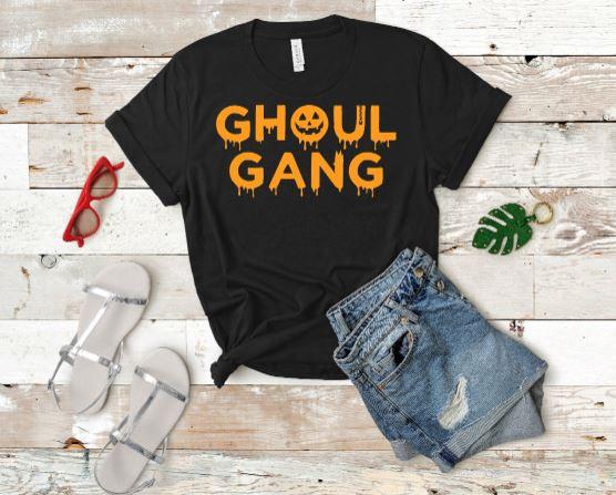 Ghoul Gang Halloween- Womans T-Shirt