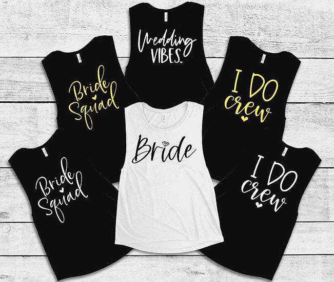 Wedding Party Crop Tops