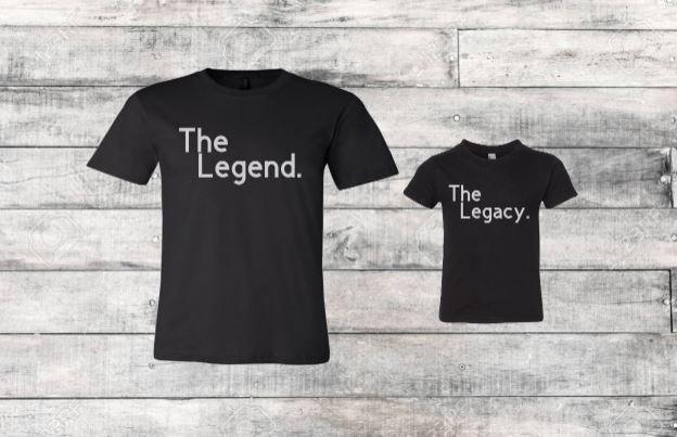 The Legend & The Legacy Kids Matching Shirt