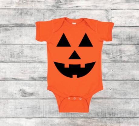 Pumpkin Face - Childs Onesie &  T-Shirt