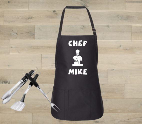 Custom Cooking Chef Apron w/ Adjustable Neck Strap