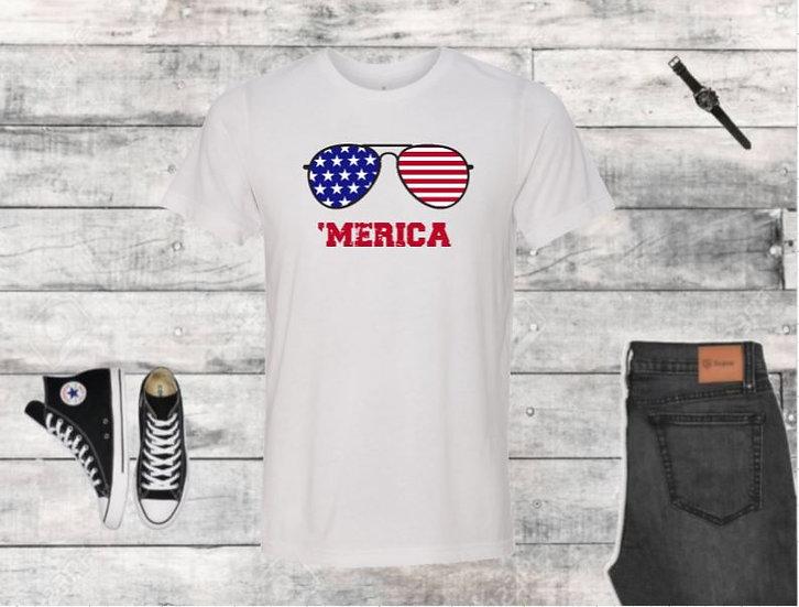 Merica Shades Male T-Shirt