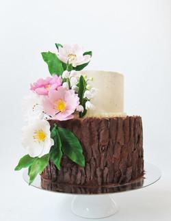 Lily & Rosie's Woodland 21st Cake