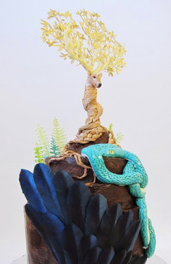 Nordic Yggdrasil Tree Themed Cake