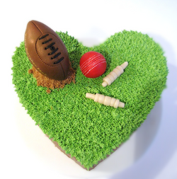 Football & Cricket Cake