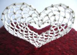 Filigree Heart Wedding Cake