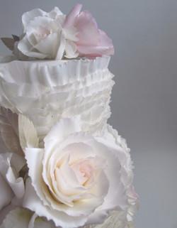 Ruffles, Silver leaves & Roses