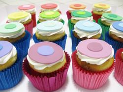 Colour Dot Cupcakes