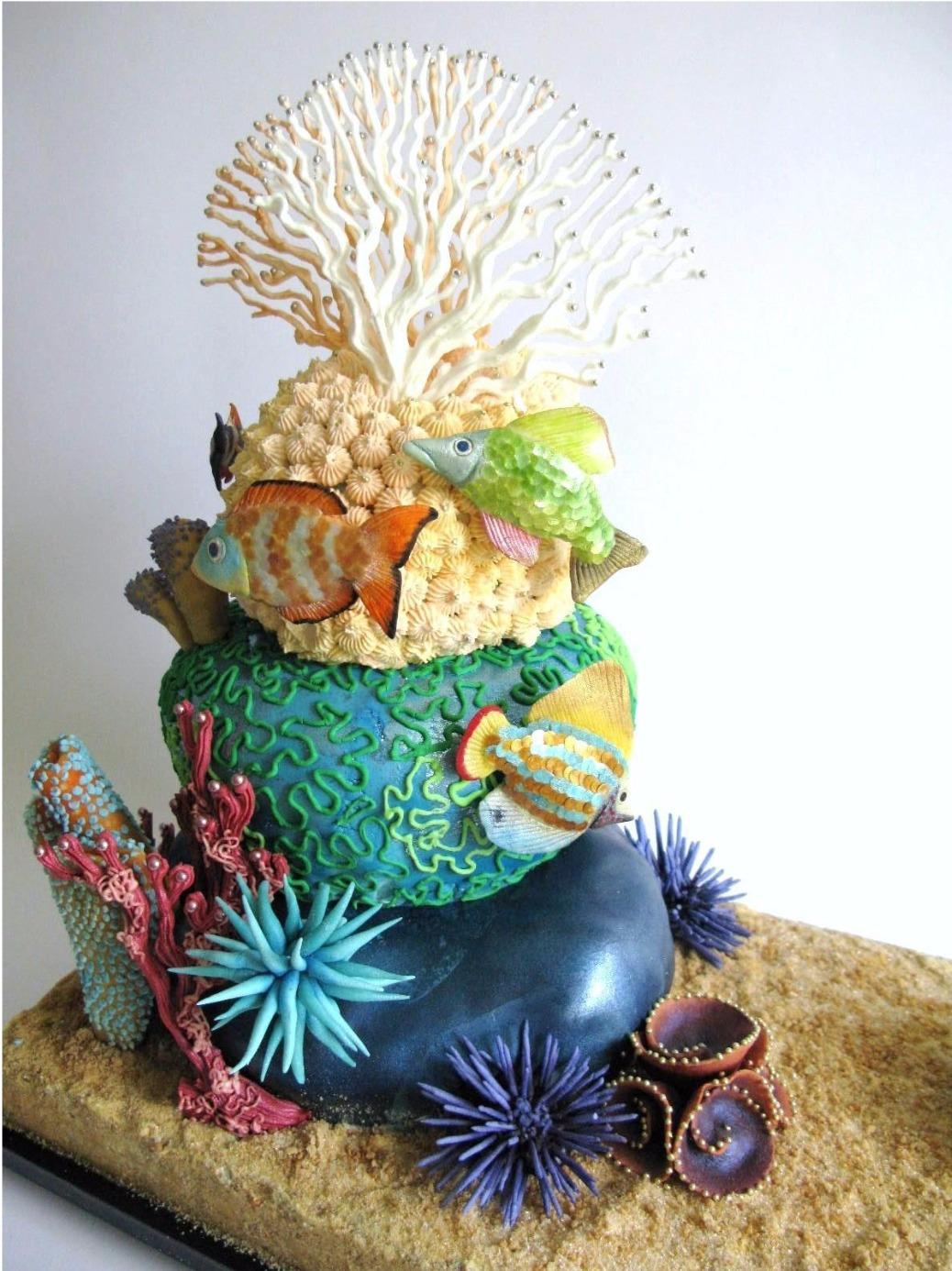 Peachy Aquarium Cake The Cake Cabinet Funny Birthday Cards Online Necthendildamsfinfo