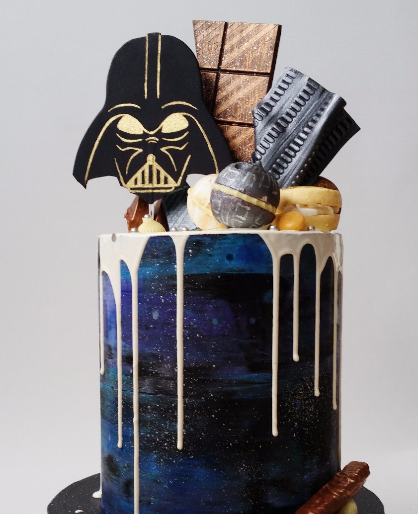 50th Darth Vader Drip Cake