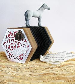 Horse & Concertina Cake