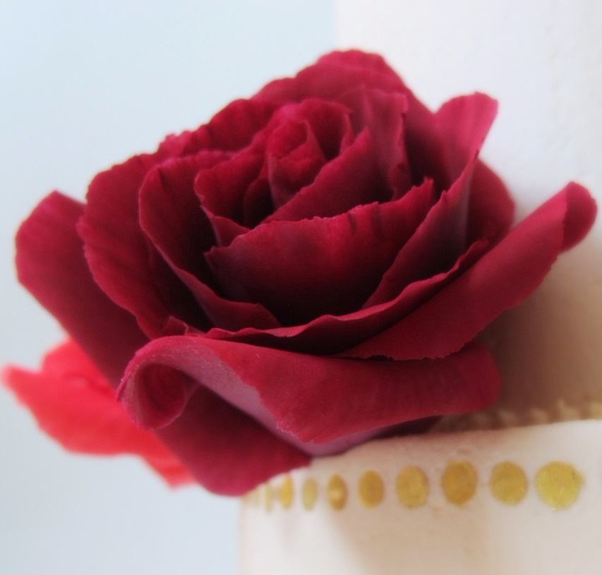 Red Sugar Roses & Gold Sequins