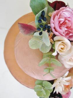 Rose Gold Garden Wedding Cake