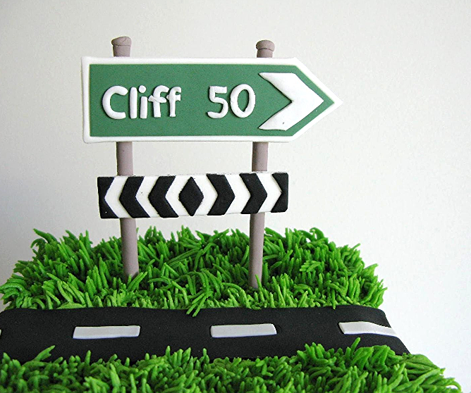 Road Sign Cake