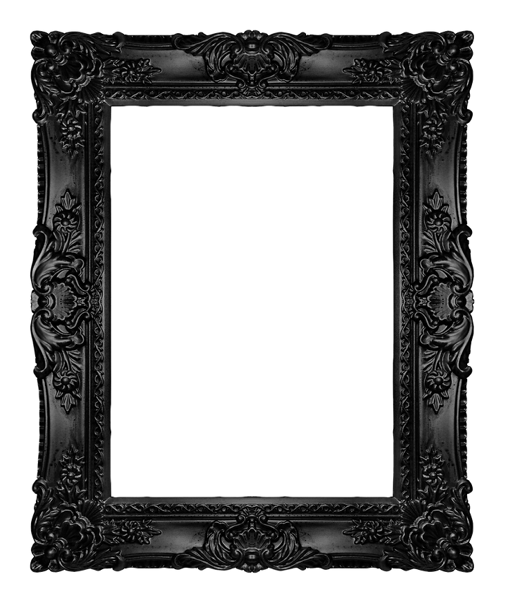 Black ornate frame, similar available in