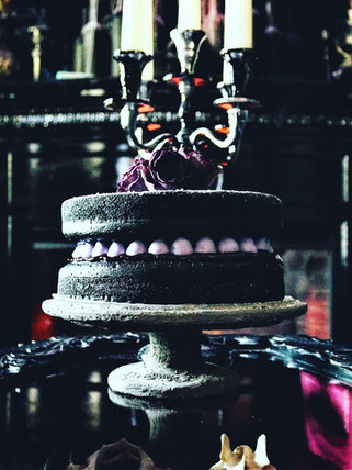 Black Vanilla Cardamom Victoria Sponge Cake w/ Damson Plum Preserve + Lavender Buttercream