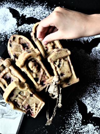 Vegan Blackberry, Dark Cherry + Ginger Cornbread Tombstones