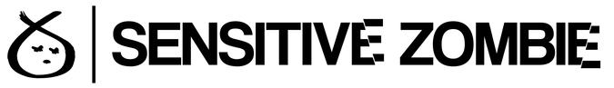 Sensitive Zombie Website Heading Black T