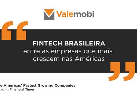 Ranking Financial Times aponta Valemobi entre as maiores empresas das Américas