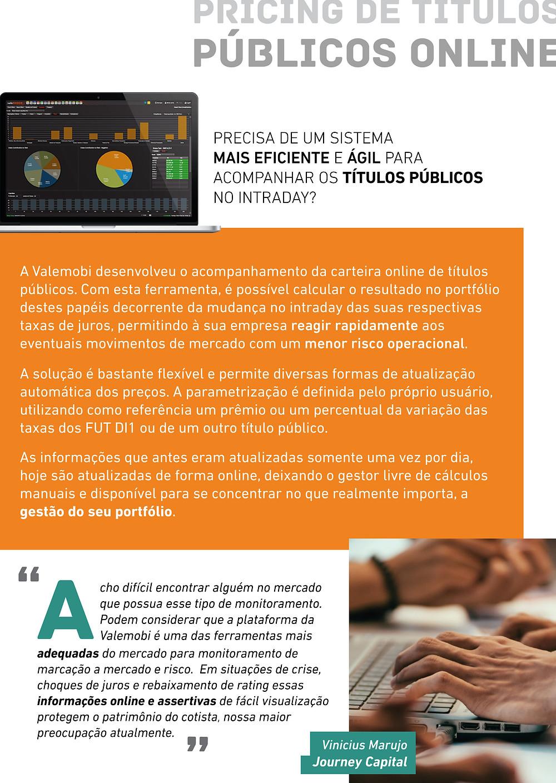 Sistema mais eficiente e ágil para acompanhar os títulos públicos no intraday