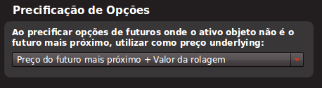Precificação Opções Futuros