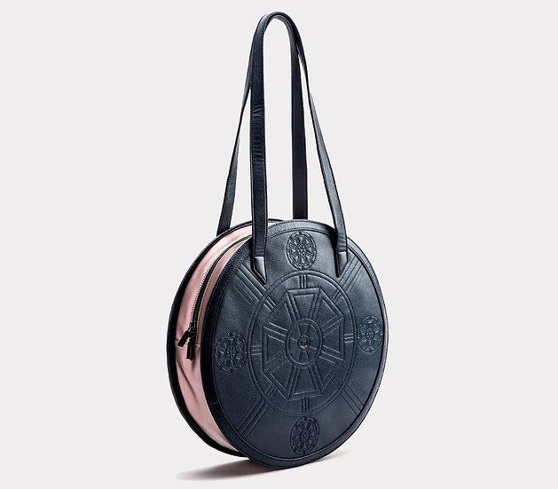 Meghan - Navy+Rose Vegan Tote Bags