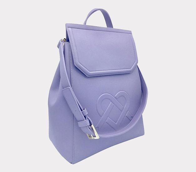 Livia - Purple Vegan Leather Backpack
