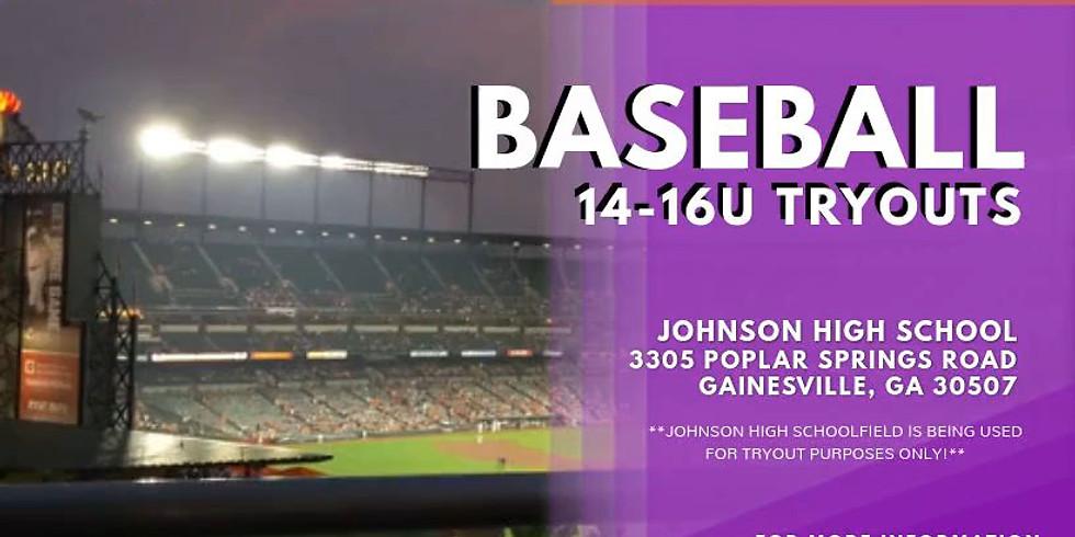 14/16U Baseball Tryouts