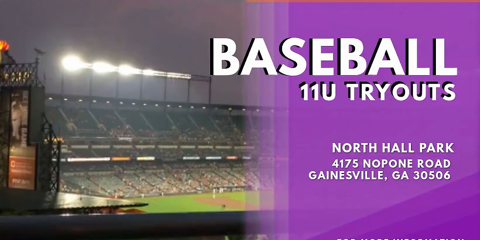 11U Baseball Tryouts