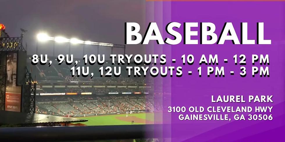 10U Baseball Tryouts