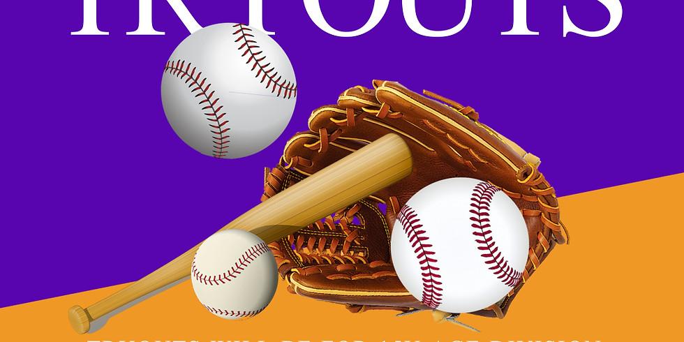 15U Baseball Tryouts