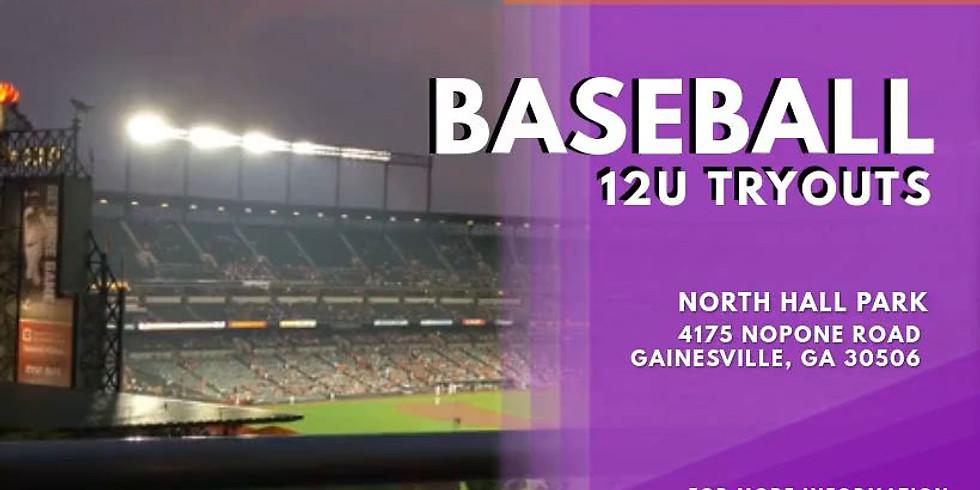 12U Baseball Tryouts