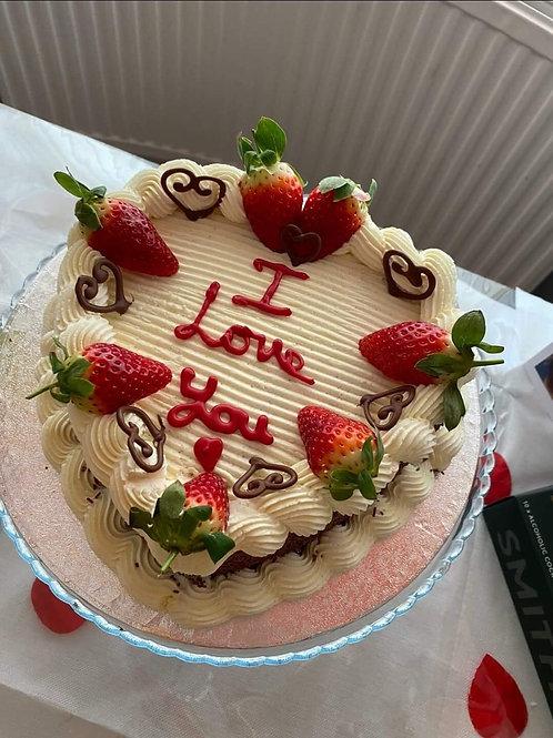 Buttercream Heart cake