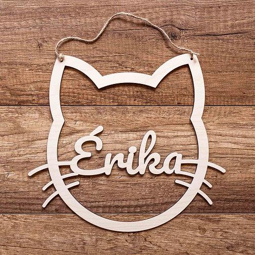 Chat décoratif en bois