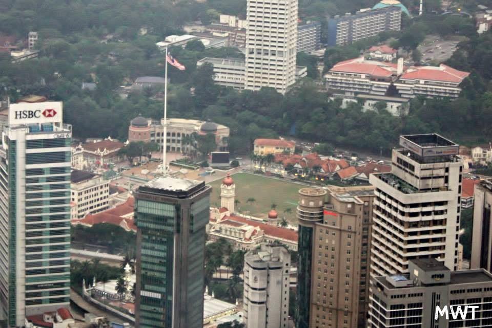 Vista de las Petronas desde la Torre de KL