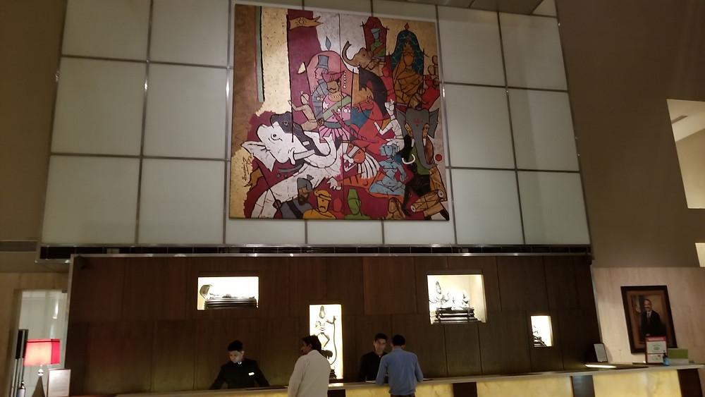 Lobby del Hotel Lalit, Delhi