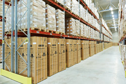interior of modern warehouse